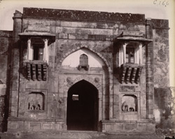 The Hathi Pol or Elephant Gate of the Palace, Rohtasgarh.